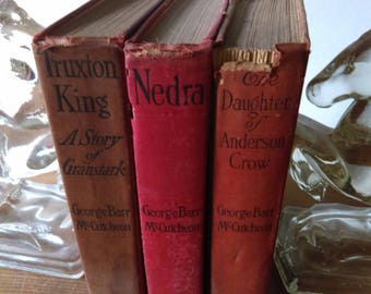 George Barr McCutcheon Book Set of Antique Red