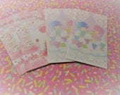 SALE Kawaii 5 Pc.Sanrio LittleTwin Star HK Mini Envelopes Set great for scrapbooking, Snail Mail, Pen pal, School, Stationery, money, Diy.