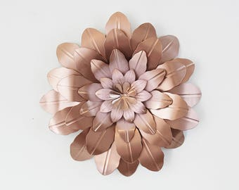 Metal Flower Wall Decor,Bedroom Wall,Metal Wall Decor, Girls Room Decor,
