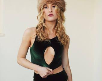 Sasha Velvet High Waist Cutout/ Swimsuit