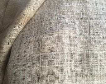 Handwoven thin Hemp Fabric -full roll - 7 meters roll