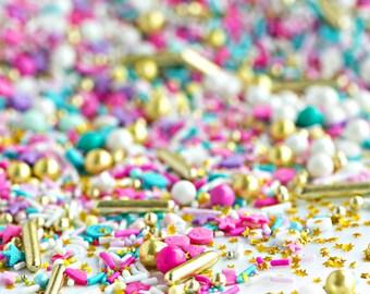 WANDERLUST Bottle Twinkle Sprinkle Medley, Pastel Sprinkles, Gold, Sweetapolita