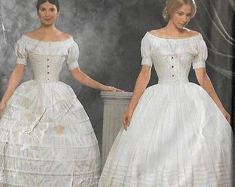 Vintage Sewing Pattern Simplicity 9764 Fashion Historian Crinoline & Petticoat Size 6,8,10.12