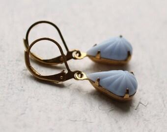 Cornflower Blue Earrings ... Powder Pastel Blue Earrings