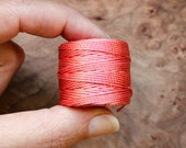 Chinese Coral Pink Beadsmith™ Super-Lon (S-Lon) Nylon Jewelry Cord - Tex 400 (0.9mm Thick) for Micro-Macrame, Kumihimo, and More! - SL400-CC