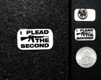 I Plead the Second Pewter Lapel Pin