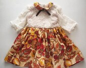 Harvest Linen Toddler Lace Dress Handmade by Papoose Clothing