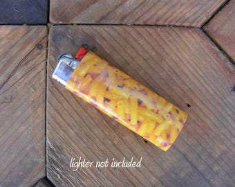 Macaroni Vinyl Waterproof Sticker for Lighter, wrap, skin, cover, smoke weed, pot, bic, 420