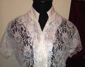 Custom 1950s Vintage Look Lace Tunic