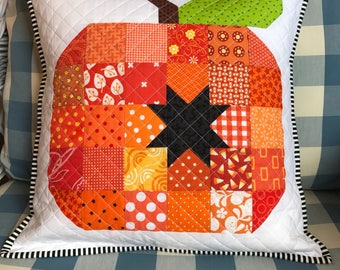 Pumpkin Pillow Cover - Fall Pillow Cover fits 16 inch pillow