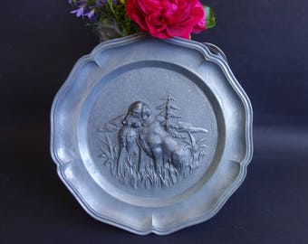 Vintage decorative relief plate from Germany