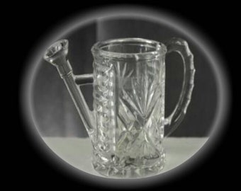 Princess House Crystal Watering Can Pitcher