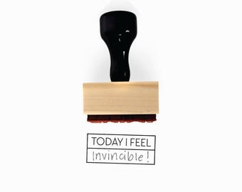 Today I Feel Stamp | Mood Tracker Planner Idea for Minimalist Journal Plan | Fill in the Blank | Wood Mounted Rubber Stamp Creatiate | BJ1