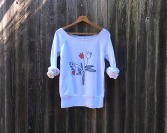 bring me tulips Sweater, Tulip Shirt, Gift for Mom, Floral Shirt, S,M,L,XL,2XL