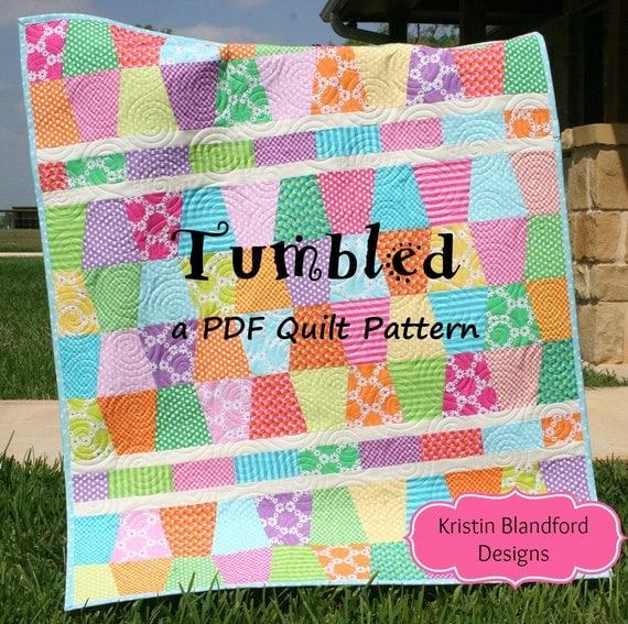 Cute Quilt Pattern Tumbled Charm Pack Baby Throw Size Tumbler : cute quilt - Adamdwight.com