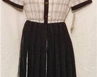 Ladies Black and White Dress Vintage look #940