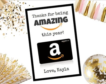 Thanks for being Amazing Amazon Gift Card Holder Teacher Gift Appreciation 4x6