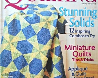 American Patchwork and Quilting Magazine February 2008, Issue 90 Quilt Patterns