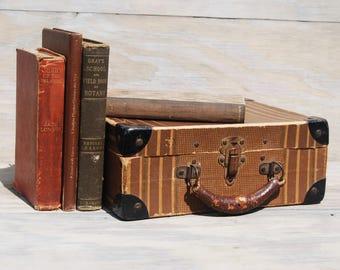 Vintage cardboard suitcase | Etsy