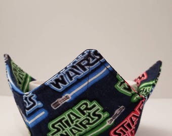 Star Wars Inspired, Microwave Bowl Cozy, Bowl Holder, Bowl Warmer, The Force Awakens, Hot or Cold, All Cotton