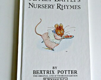 Vintage Book Beatrix Potter Appley Dapply's Nursery Rhymes