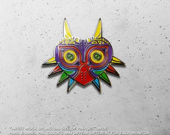 Majora's Mask / Skull Kid / Masks / Deku / Goron / Zora  / Ocarina / Legend of Zelda / Link / Hat Pin / Lapel Pin / Hard Enamel /  Pin