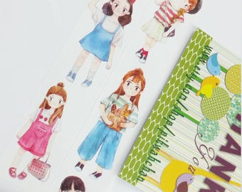 Lovely Girl Washi Tape (25mm X 5M)