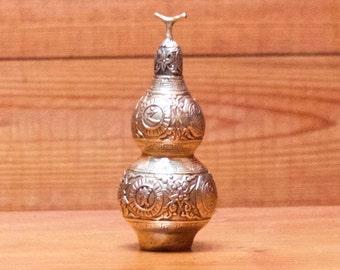 Vintage Chinese Brass Handwork Ying Yang Snuff Bottle/ Incense Burner