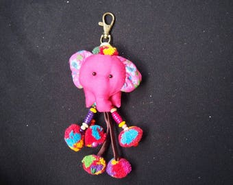 Thai handmade elephant Key-chain/ KC-035/Lobster keychain/Elephant keychain/Handmade keychain/Father's day gift for him/For dad/Summer keych