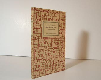 Das Mondschaf - Moon Sheep by Christian Morgenstern, Bilingual Edition in German and English 1963 Vintage Book Midcentury Modern Binding