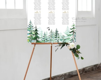 Printable Seating - Rustic Forest (Style 0010)