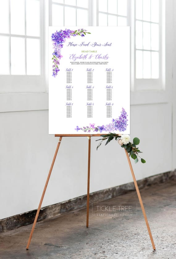 Seating Chart - Lovely Lavender (Style 13670)
