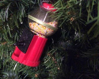 1980's Candy Machine Christmas Tree Ornament Christmas Ornament Holiday Collectible