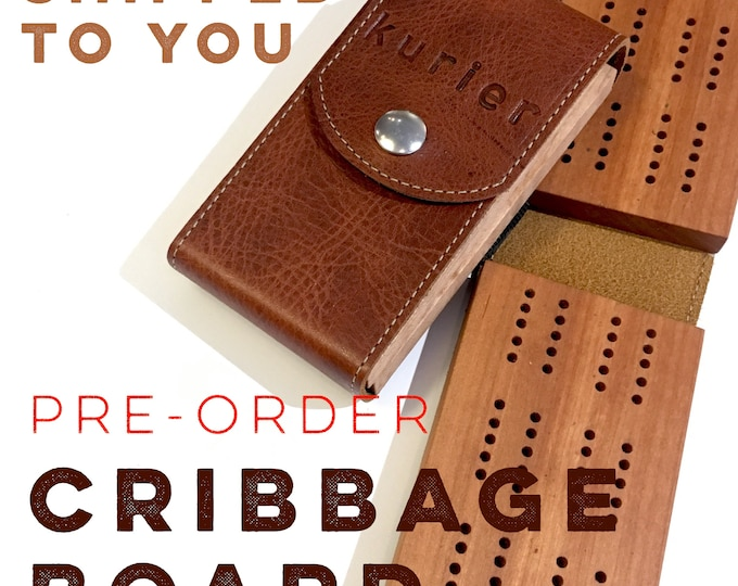 PRE-ORDER Travel Cribbage Set - Shipped