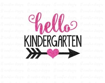 Hello Kindergarten SVG, School SVG, SVG Files, Silhouette Files, Cricut Files