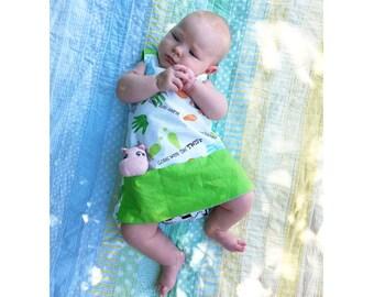 Girl Baby Girl dress overall sewing pattern Pdf, BAA BAA Girl Jumper Pinafore pattern, toddler dress, newborn up to 10 years