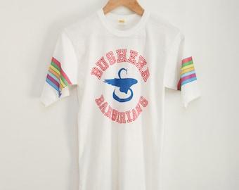 Velvasheen retro high-school rainbow ringer tee vela sheen 70s / 80s