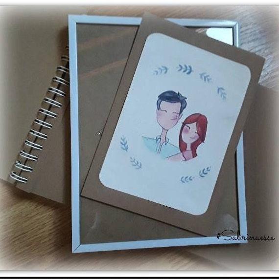 Ritratto di nozze personalizzato, Wedding portrait, ritratto delle coppie, regalo di San Valentino