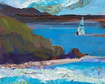 Sailing Caribbean Original Painting