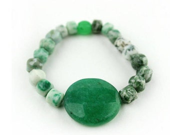 Aventurine Bracelet -FREE Shipping in USA - Natural Bracelet, Green Moss Agate and Aventurine, Healing Bracelet, Portland, Oregon 567