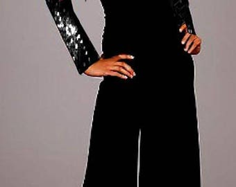 Sequin Jacket Palazzo Strapless Jumpsuit Made To Measurement