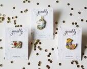 B-Grade, C-Grade Seconds Sale Bear and Unicorn Hard Enamel Pin