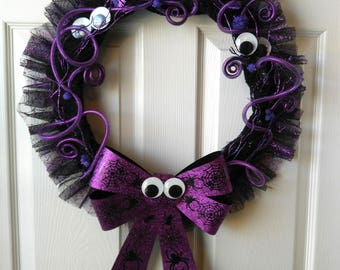 Googly Eye Halloween Wreath, Halloween wreath, Halloween decor, front door wreath, Happy Halloween, Fall Wreath, Handmade, custom wreath