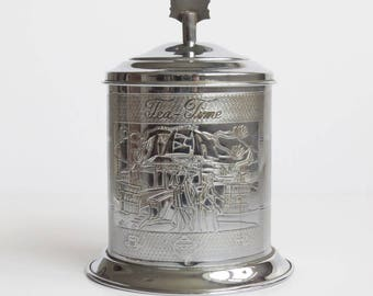 Vintage Weston Super Mare Souvenir Metal Tea Caddy Container