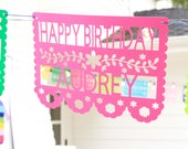 Personalized Mexican Fiesta Banner Papel Picado