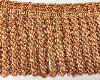 Bullion Fringe Trim (3 yds) Rust/Copper