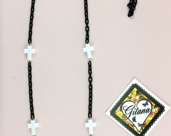 Gothic Necklaces-Goth lolita-Fairy kei-Harajuku-Evil-Geek-Cosplay-Halloween-Lolita-Anime-Women accessories-Necklaces- Black and White- Candy