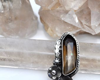 Morning Dew Collection || Smokey Ring II  // Smoky Quartz Collection