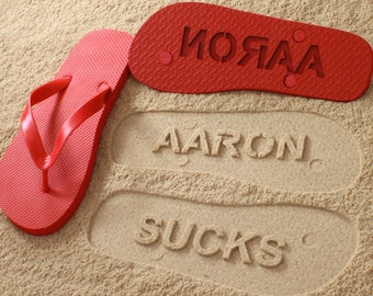 Fun Personalized Sand Imprint Sandals *check size chart before ordering*