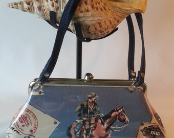 1990's Vintage Handbag; M. Andonia Pony Express Handbag Purse